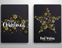 Abstract Christmas winter design