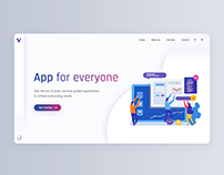 App for everyone - website of an interactive agency