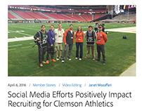 Clemson Athletics Creative Social Media Team Accolades