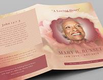 Rose Funeral Program