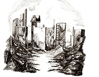 Pencil Sketches (Various Cityscapes)