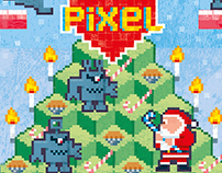 Pixel Love cards: Santa Vs the Martian Robots