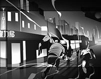 Nike Shanghai Animated Advert StoryBoard