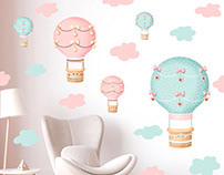 Balloons - stickers/for girls
