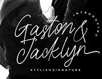 GASTON & JACKLYN STYLISH SIGNATURE - FREE FONT