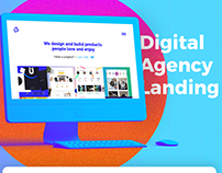 Clean Digital Agency Landing with free Adobe XD file