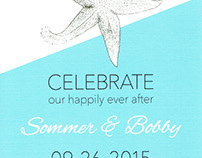Wedding Invitations: Sommer & Bobby