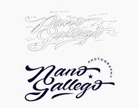Lettering logo process