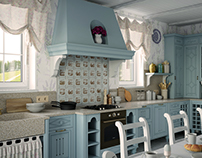 Design of kitchen in the style of provance
