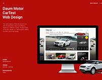 Daum Motor CarTest Web Design