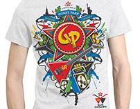 Gorky Park rock band T-shirt design