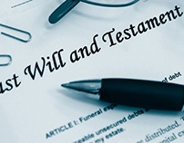 Last Will and Testament, a pen, and paper clips | Image