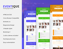 Eventique Event Landing Page