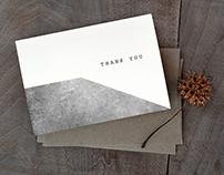 Minimal Geometric Thank You Card Set