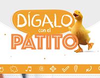 """Landing Page """"Dígalo con el Patito"""""""