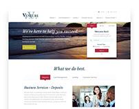 Venture Bank Homepage Design