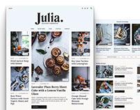 Julia - Food Blogging Theme