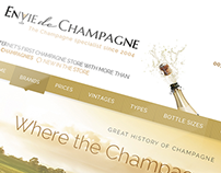 Envie de Champagne - Website Design