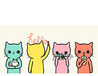 Candy color cats