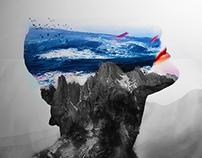 Ocean inside Art Work + FREE PSD.