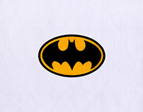 BLACK BATMAN LOGO EMBROIDERY DESIGN