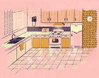 Retro Kitchen Illustration