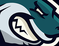 SHARK MASCOT LOGO, Sold