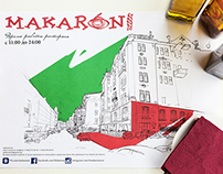 makaroni  restaurant artwork
