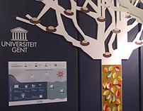 Infographic en stand Universiteit Gent