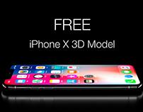 Free iPhone X 3D Model