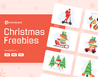 FREE CHRISTMAS ILLUSTRATION PACK