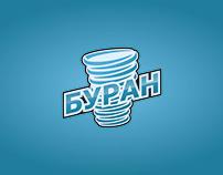 Buran hockey club logo branding concept