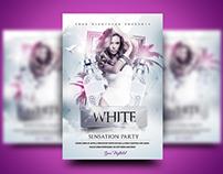 White Sensation Party Flyer