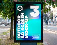 Outdoor Advertising Screen Mock-Ups 15 (v3)