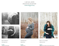 Layout Design for http://lauraannstudios.com/