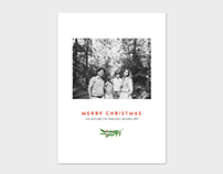 Christmas Card Template - Painted Laurel