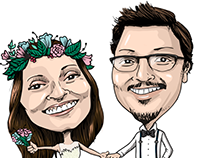 Jenni & Jose Wedding cartoon