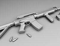 M4 | 3D modelling, texturing, lighting