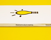 Statements about creativity