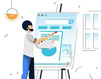 User Interaction Illustration Study - Work in Progress
