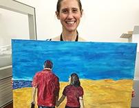 Shelly & Noah Wedding Painting