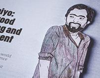 Koombiyo's Jehan- Magazine Article Illustration