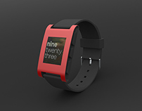 Pebble Watch Rendering - PanCAD