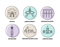 Coimbra - city icons