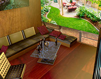Virtual Modern Home interior - Living room.