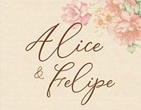 Convites de Casamento: Alice e Felipe