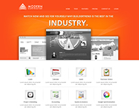 Modern contractor website design