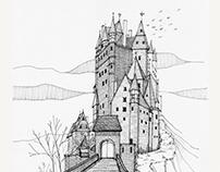 Eltz Castle - Drawing