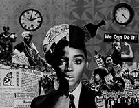 BLACK WOMAN AND RACISM | Collage