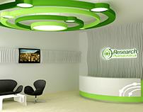 Diseño y montaje Recepción - Research Pharmaceutical.